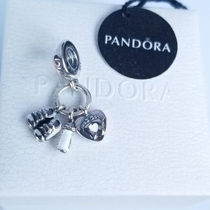 PANDORA Dangle Charm My Little Baby Silver 925